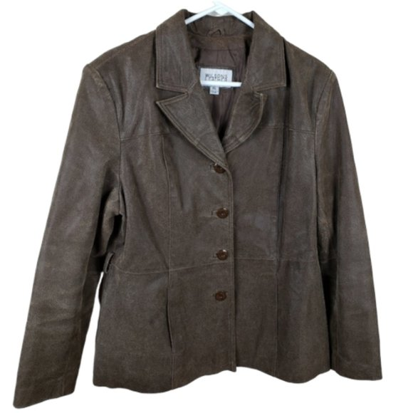 Wilsons Leather Jackets & Blazers - Wilsons Brown Leather Jacket Coat Maxima Size XL